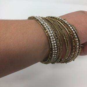 Gold and Faux Diamond Bracelet